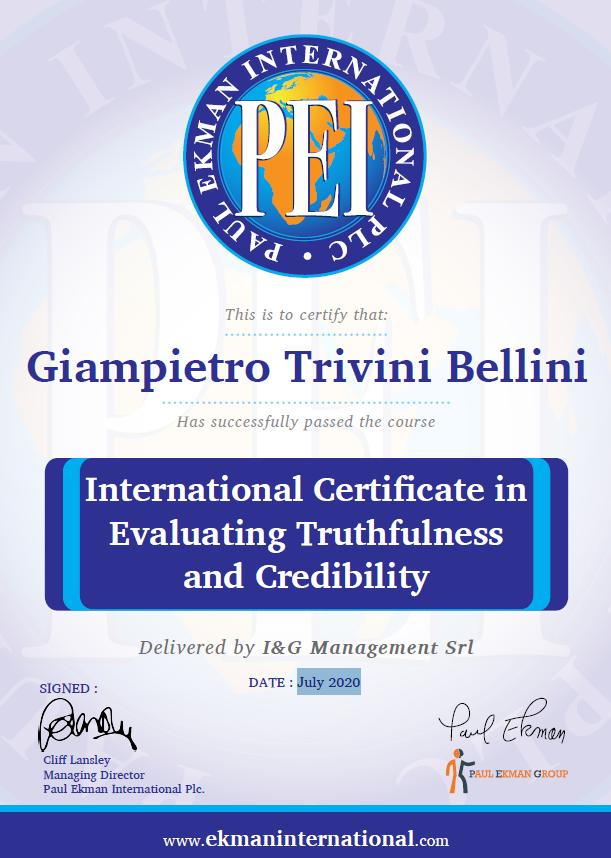 certificazione internazionale ETaC – Evaluating Truthfulness and Credibility,
